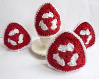Crochet egg warmer egg cover crochet egg cosy easter egg hat easter table decor granny egg warmer egg cosy set easter egg cover