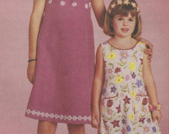 McCall's 2769 Childrens Sewing Pattern Girls Sundress Empire Bodice A-line Skirt Size 4, 5, 6 UNCUT