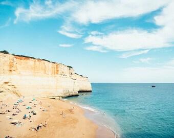 Ocean Photography, Seaside, Coastal Decor, Sky, Clouds, Blue Wall Decor, Beach Photography, Blue Ocean, Horizon, Summer Holiday, Ocean Print