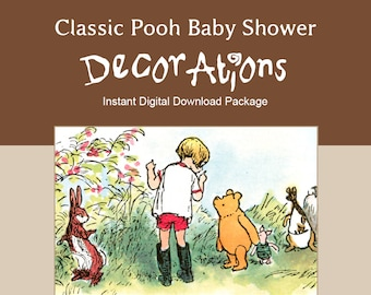 Classic Winnie the Pooh Baby Shower Decoration Package