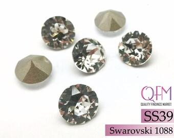 10pcs, 1088 SWAROVSKI SS39, XIRIUS Chaton, 8mm, Crystal, Foil Back, Round Swarovski Elements, Gemstones, Jewelry Supplies, Earrings Stones