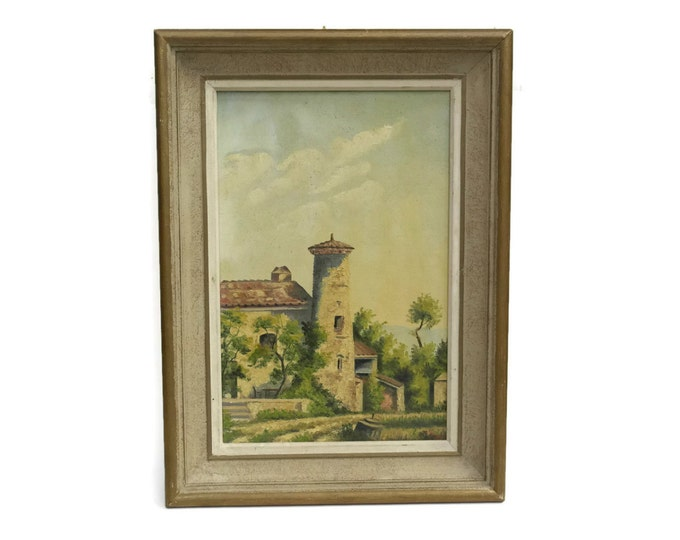 French Country Painting. Landscape Oil Painting On Canvas. Provence Decor. Rustic Home Decor.