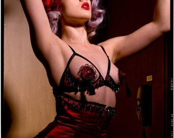 Moulin Rouge Pasties by Deanna Danger Designs  (Sizes L or XL)