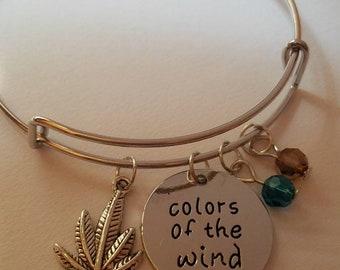 Colors of the Wind Bangle Bracelet