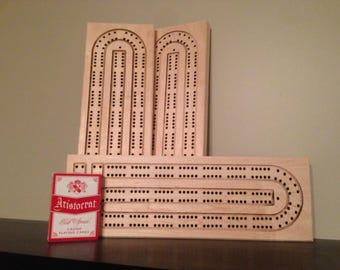 Blank Cribbage board