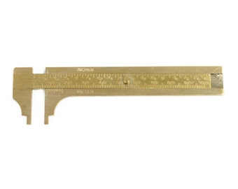 Brass Slide Gauge - 100mm - 35-204