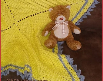 DIGITAL DOWNLOAD: PDF Crochet Pattern for the Love and Sunshine Baby Blanket