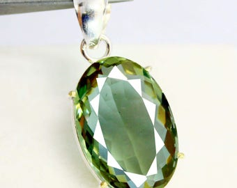 56.40Ct Certified Fantastic Alexandrite Pendant 925 Solid Sterling Silver AU3937