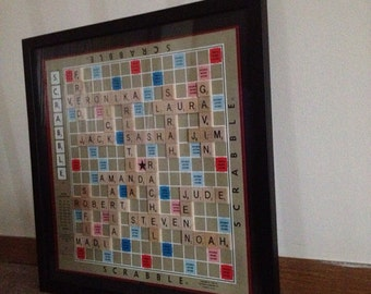 Framed Scrabble Boards - Custom Made - Personalized