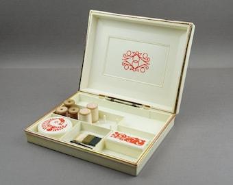 sewing box, sewing supplies, storage, sewing kit, box for needlework, crafts, sewing, vintage sewing box