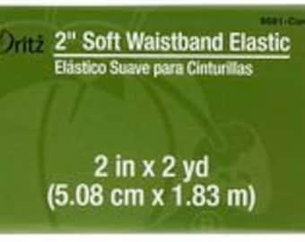 "2"" inch Soft Waistband Elastic - Dritz - Coral"