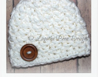 Brendan baby hat pattern - chunky baby hat pattern - 3 sizes - PDF62 instant download