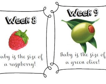 Week by week pregnancy fruit printable // maternity week by week // weekly pregnancy update