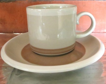 ARABIA OF FINLAND, Vintage, Tupa Coffee Cup & Saucer