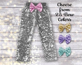 Silver Baby Pants Girl Silver Leggings Baby Girl Pants Silver Leggings Sparkle Pants Silver Sequin Pants Girl Clothes Birthday Pants NB-6T