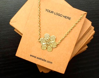 Custom printed Large necklace display card - jewelry packaging