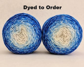 Tangled Up In Blue Chromatic Gradient Matching Socks Set Yarn, dyed to order - pick your size, pick your yarn base