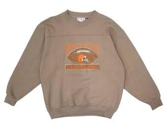 Vintage Cleveland Browns Varsity University Sweatshirt Sweater Mens Size Medium