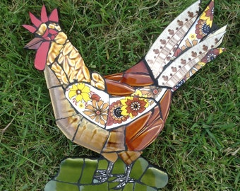 Chicken mosaic wall hanging