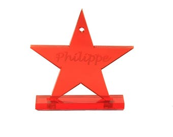 Door model name star with laser engraving