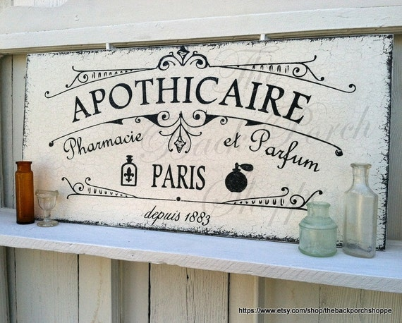 Apothicaire Apothecary Pharmacy First Aid Signs Perfume