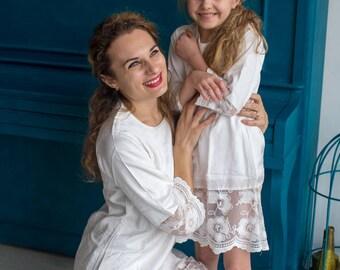 Matching Lace Dresses - Matching Mommy Baby dresses - Matching Outfit, Mom and Me, Matching dresses, Mini Me, Shift dress, tunic dress