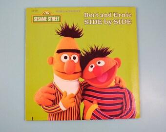 Sesame Street - Bert and Ernie Side by Side LP Vinyl Record - 1981