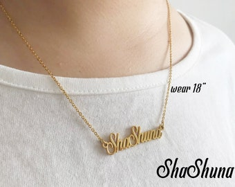gold necklace product plated name personal infinity style