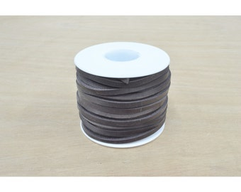 """Latigo Cowhide Spool 1/8"""" x 50 feet Thickness 5-6 ounce Boot Lacing leather lace"""