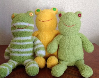 Handcrafted Fuzzy Sock Frog - Assorted Styles