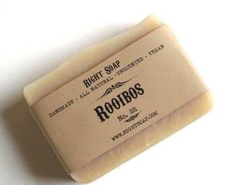 Rooibos All Natural Herbal Soap Cold Process Soap Handmade Vegan Homemade Artisan Soap Unscented Sensitive Skin Soap for Men Skin Care Face