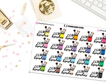 Clean Brushes Stickers -021