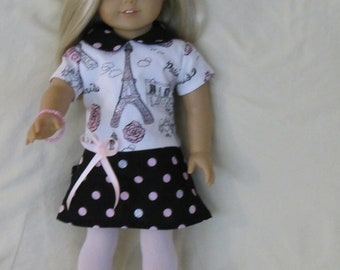 Paris dress for the American Girl Doll and other 18 inch dolls