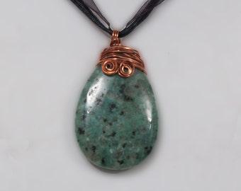 Taken 4 Granite Pendant Necklace