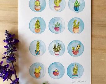 Cactus Love - Print