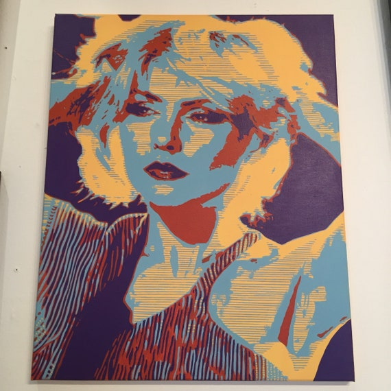 Deborah Harry / Blondie Portrait (original in acrylice on Canvas