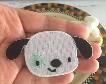 Dog Embroidered Iron On Patch, Dog sewing patch, Dog patch
