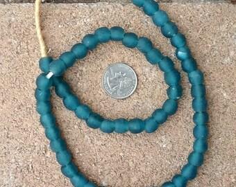 Ghana Glass Beads: Mali Blue  10mm