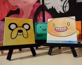 Adventure Time Character Miniature Canvas Paintings