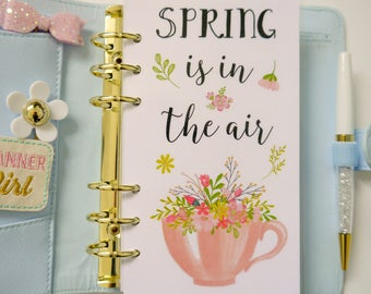 Spring Is In The Air Personal, A5, A6, B6 and Pocket Size Planner Dashboards