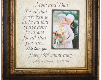 Anniversary Gift for Parents, Golden Anniversary Gift for 50th Anniversary, For All That You Have Been, Wedding Anniversary Gift, 16x16