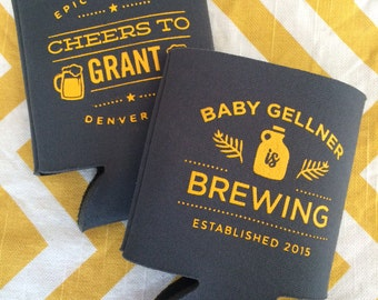 Baby is Brewing can coolers, Baby Shower brewery favors, baby and beer can coolies, Baby Shower can cooler, baby is brewing favors