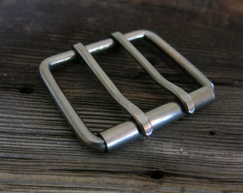 Double Prong - Copper Belt Buckle - GUN METAL -  Extra Strong | ALL Widths | Inch mm