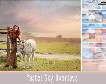 Pastel sky, Romantic Sky, sky overlay, english sky, realistic sky, photoshop, overlays, beach, clouds, gimp,  skies, rainbow