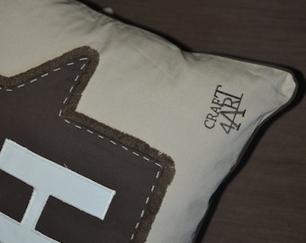 The Alphabet - Art Decorative Pillows cases 18 in x 18 in -  Handmade