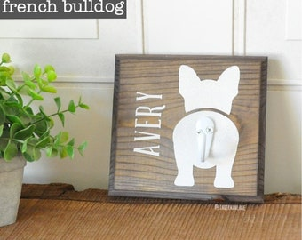 Custom FRENCH BULLDOG Wall Hook