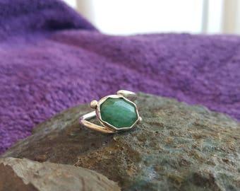 Emerald Ring Handmade & Silver