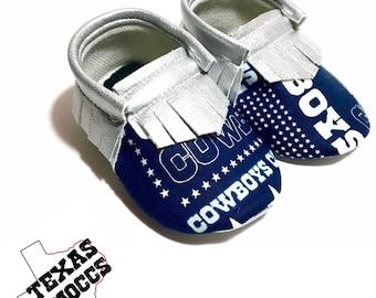 Cowboy baby etsy dallas cowboys baby shoes moccasins handmade moccs baby moccs football moccasins negle Choice Image