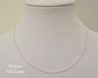 """Sterling Silver Chain Necklace 18"""" Chain, 18 Inch Necklace Chain, Twisted Rope Link, .925 Sterling Silver Necklace Chain, 18 inches, NEW"""
