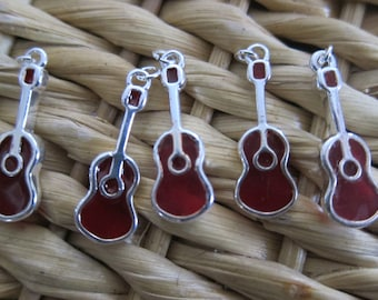 Guitar Charms - Pack of Five